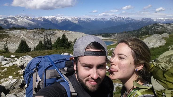 Hiking back down Sproatt Alpine Trail.